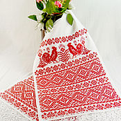 Свадебный салон handmade. Livemaster - original item Slavic ritual rushnik Embroidered wedding rushnik Amulet for happiness. Handmade.