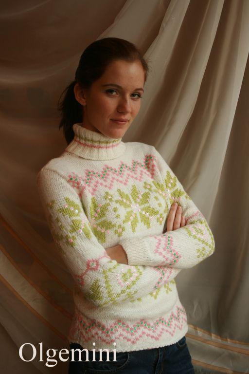 Кофты и свитера ручной работы. Ярмарка Мастеров - ручная работа. Купить Тёплый свитер. Handmade. 50% шерсть, пайетки