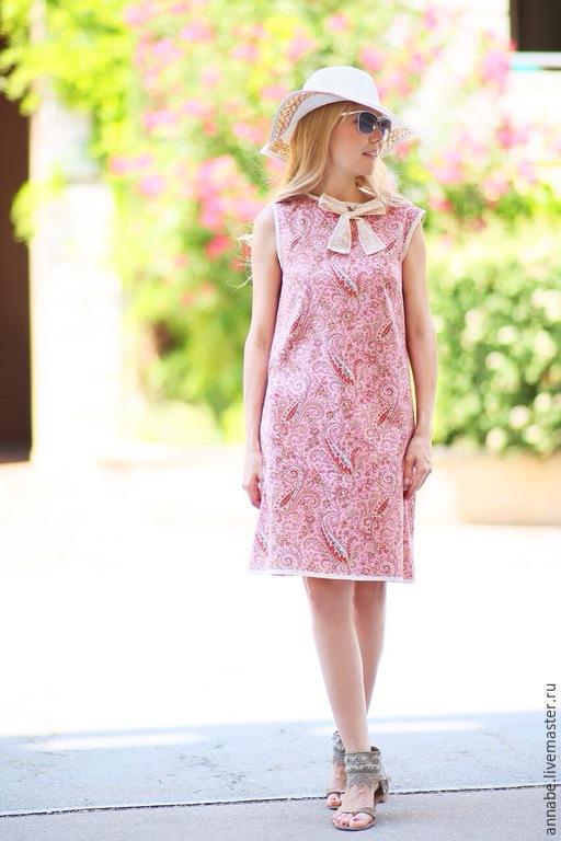 Платья ручной работы. Ярмарка Мастеров - ручная работа. Купить Платье Paisley Love Хлопок 100%. Handmade. Платье на лето