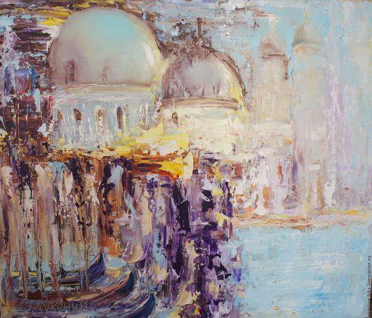 """Город ручной работы. Ярмарка Мастеров - ручная работа. Купить Картина маслом """"Венеция"""". Handmade. Комбинированный, пейзаж, венеция"""