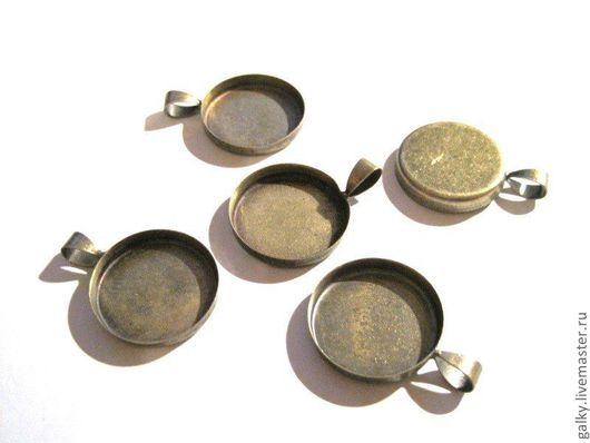Для украшений ручной работы. Ярмарка Мастеров - ручная работа. Купить Основа для кулона круглая 20мм античная бронза. Handmade.