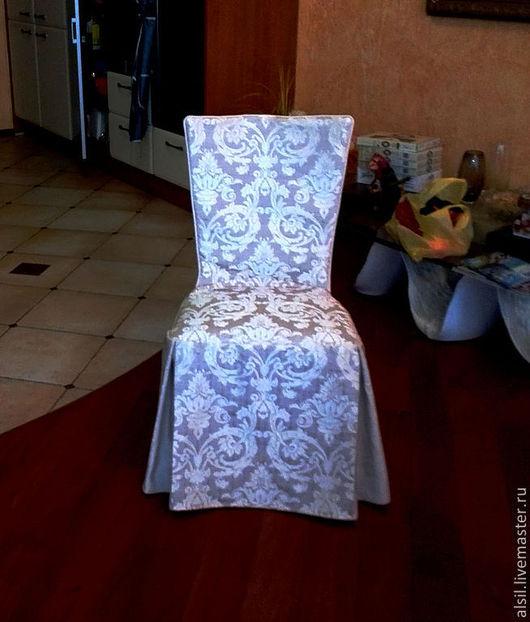 Кухня ручной работы. Ярмарка Мастеров - ручная работа. Купить Чехол на стул - классика (2). Handmade. Чехол для стула