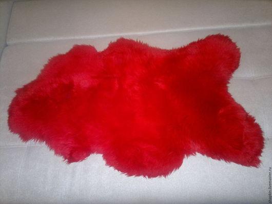 Текстиль, ковры ручной работы. Ярмарка Мастеров - ручная работа. Купить Ковер из овечьей шкуры Красный. Handmade. Ярко-красный