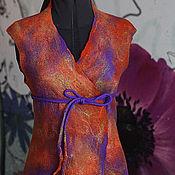 """Одежда ручной работы. Ярмарка Мастеров - ручная работа Жилет """"Orange"""". Handmade."""