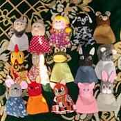 Куклы и игрушки ручной работы. Ярмарка Мастеров - ручная работа Пальчиковые куклы. Handmade.