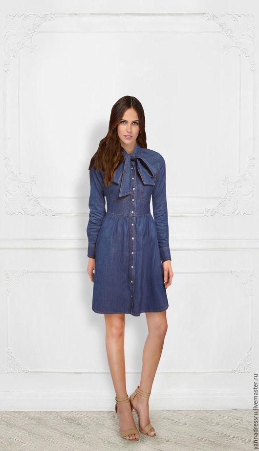 """Платья ручной работы. Ярмарка Мастеров - ручная работа. Купить Платье джинсовое  """"Jeans Style"""". Handmade. Синий, платье летнее"""