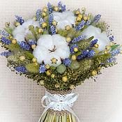 Цветы и флористика ручной работы. Ярмарка Мастеров - ручная работа «Рустик» букет из сухоцветов. Handmade.