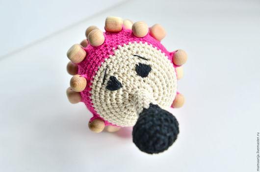 Ежиха Миссис Фукс – развивающая игрушка, погремушка, тактильный мячик.