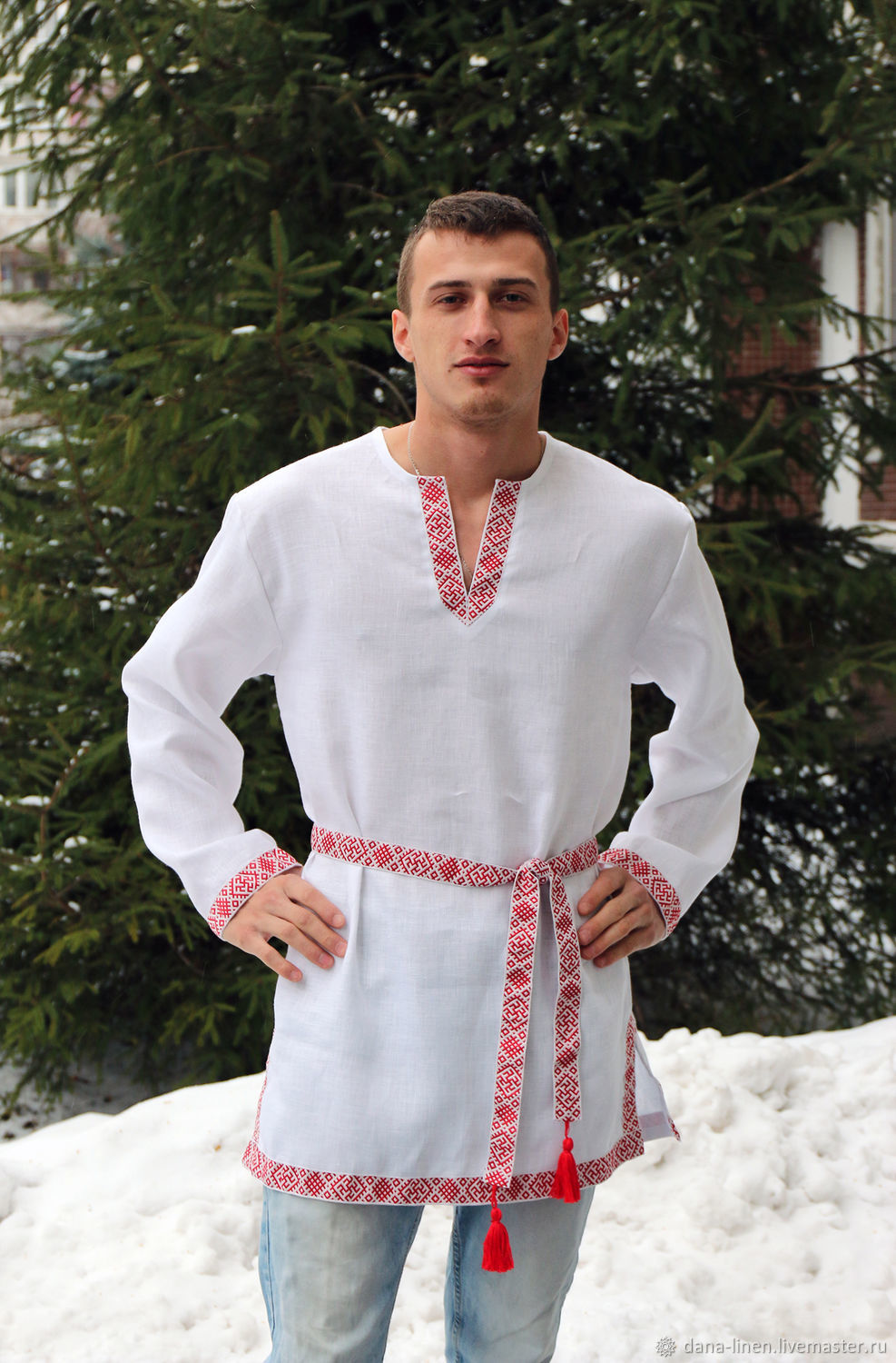 Viking linen tunic with belt, People\\\'s shirts, Moscow,  Фото №1