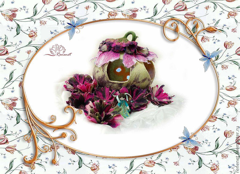 """Валяная развивающая игрушка """"Домик для цветочной феи"""", Кукольные домики, Смоленск,  Фото №1"""