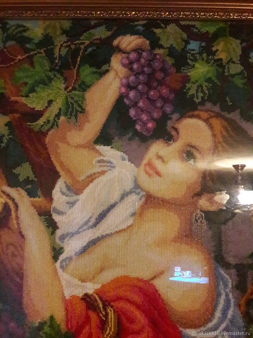 Вышивка виноградница бисером