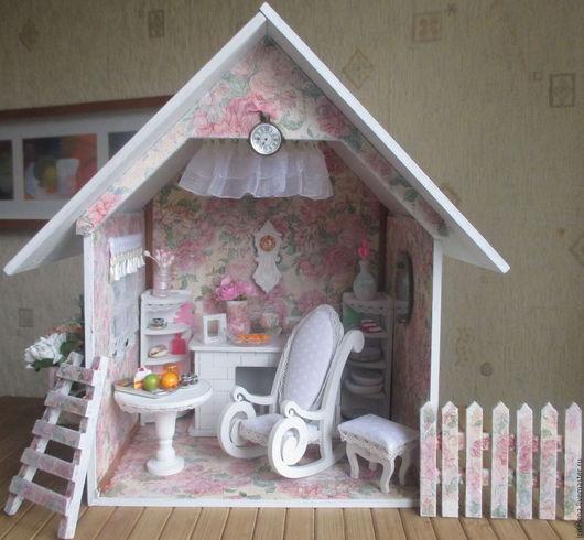 """Кукольный дом ручной работы. Ярмарка Мастеров - ручная работа. Купить """" Летний Домик """" (с электричеством)Для кукол от небольших и до 17см. Handmade."""