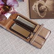 Винтаж handmade. Livemaster - original item Set comb brush mirror in box. Handmade.