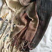 Аксессуары ручной работы. Ярмарка Мастеров - ручная работа Домотканый шарф из льна с хлопком.. Handmade.