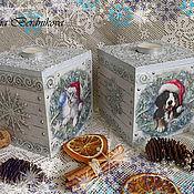 Подарки к праздникам ручной работы. Ярмарка Мастеров - ручная работа Новогодние подсвечники. Handmade.
