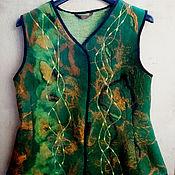 Одежда ручной работы. Ярмарка Мастеров - ручная работа Жакет валяный- ветер перемен.. Handmade.