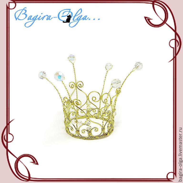 """корона """"Золотая принцесса"""", Украшения для причесок, Москва,  Фото №1"""
