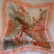 Винтаж handmade. Livemaster - original item Lily handkerchief, silk, vintage China. Handmade.