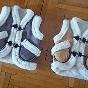 Одежда ручной работы. Ярмарка Мастеров - ручная работа Жилетка из Овечьей шерсти  детские. Handmade.