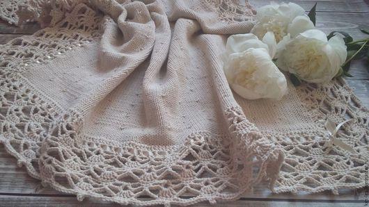 """Пледы и одеяла ручной работы. Ярмарка Мастеров - ручная работа. Купить Плед для новорожденного """"Летний вечер"""". Handmade. Бежевый, на выписку"""