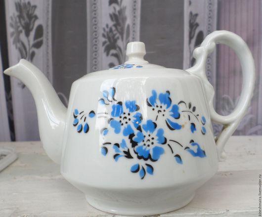Винтажная посуда. Ярмарка Мастеров - ручная работа. Купить Заварочный чайник 1920 г Чудово. Handmade. Черный, фарфор, фарфор