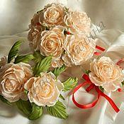 Свадебный салон ручной работы. Ярмарка Мастеров - ручная работа Свадебный комплект из шелковых цветов. Handmade.