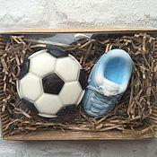 """Косметика ручной работы. Ярмарка Мастеров - ручная работа Набор мыла """"любителю футбола"""". Handmade."""