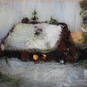Картины и панно ручной работы. Ярмарка Мастеров - ручная работа Дом у леса. Handmade.