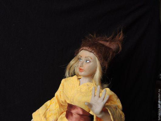 Портретная кукла из полимерной глины.