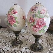 Подарки к праздникам ручной работы. Ярмарка Мастеров - ручная работа Яйцо пасхальное интерьерное, декупаж. Handmade.
