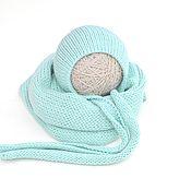 Работы для детей, handmade. Livemaster - original item Winding for photo shoots cap for a newborn. Handmade.