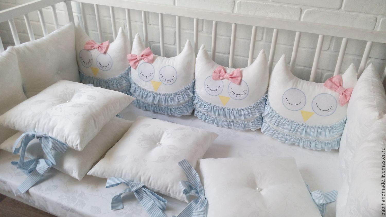 Бортики в кроватку для новорожденных из подушек своими руками выкройки фото