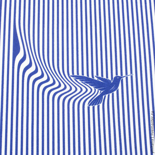 Шитье ручной работы. Ярмарка Мастеров - ручная работа. Купить Трикотаж вискозный в полоску сине-белый Marina Yahting. Handmade.