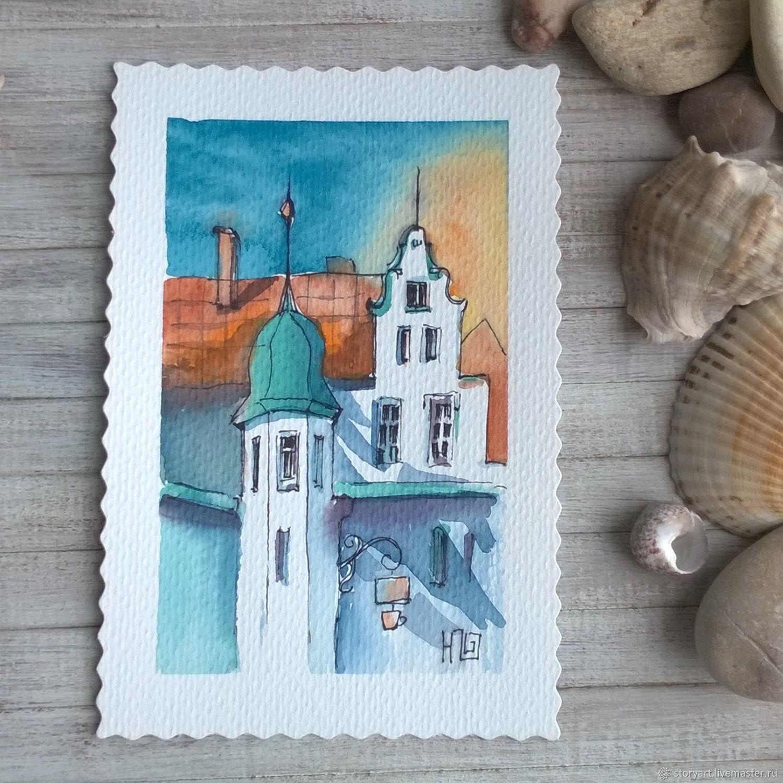 Днем, наборы открыток путешествия