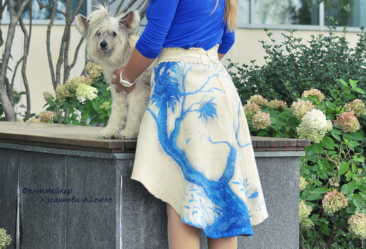 Юбки ручной работы. Ярмарка Мастеров - ручная работа. Купить Авторская валяная юбка с ассиметричным подолом. Handmade. Комбинированный, Валяние
