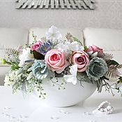 """Композиции ручной работы. Ярмарка Мастеров - ручная работа Букет цветов в вазе """"Розовая мята"""". Handmade."""