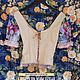 Блузки ручной работы. Блуза авторская №2, корсет из льна и шёлка цвета раннего утра.. Александра Мачальская  (me-en-me). Ярмарка Мастеров.