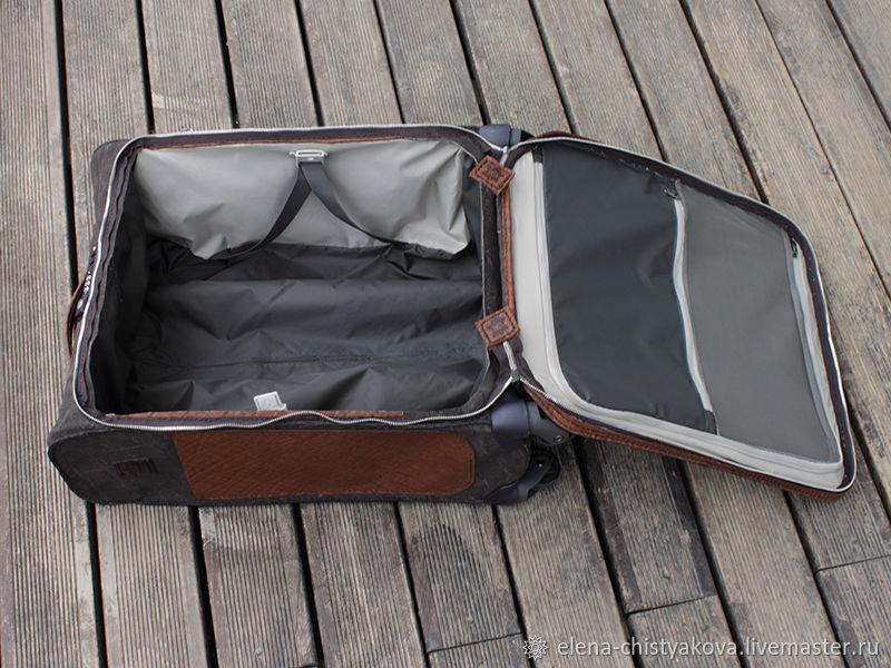 Чемодан из кожи (стандарт авиационной ручной клади)