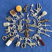 Браслет для шармов ручной работы. Ярмарка Мастеров - ручная работа Браслет: Сверхъестественное браслет (24 кулона). Handmade.