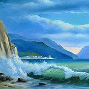 """Картины и панно ручной работы. Ярмарка Мастеров - ручная работа Картина 2 из триптиха """"Море"""". Handmade."""