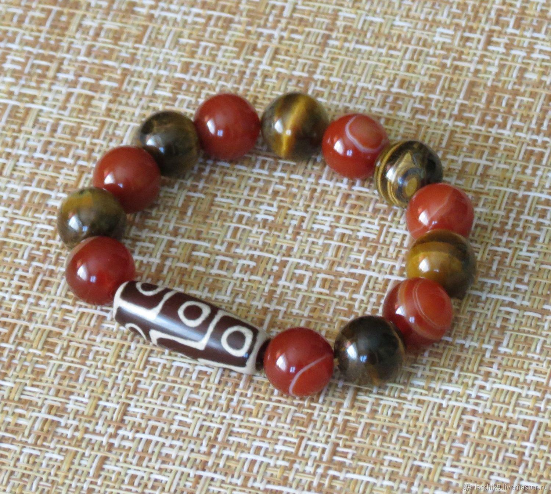 Amulet bracelet with JI 9 eyes ' Success and popularity', Ji bead, Izhevsk,  Фото №1