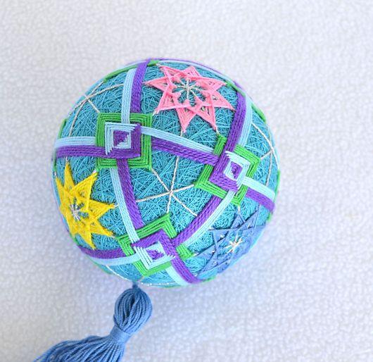 Темари ручной работы. Ярмарка Мастеров - ручная работа. Купить Темари Нептун. Handmade. Голубой, морской, вышивка, подарок, путешествие