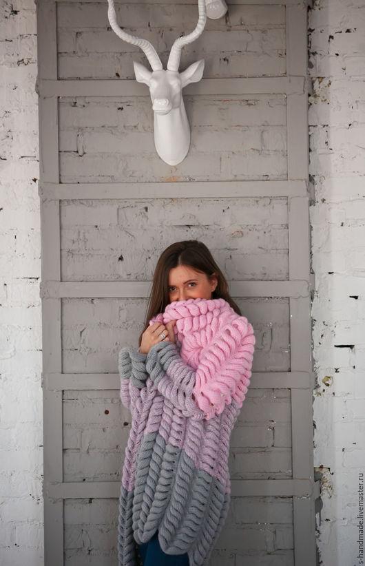 Кофты и свитера ручной работы. Ярмарка Мастеров - ручная работа. Купить Кардиган с узором азиатский колосок. Handmade. Розовый, зима