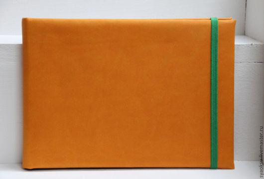 Блокноты ручной работы. Ярмарка Мастеров - ручная работа. Купить Блокнот для творчества. Handmade. Оранжевый, блокнот, блокнот с нуля