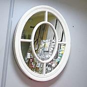 Заготовки для декупажа и росписи ручной работы. Ярмарка Мастеров - ручная работа Зеркало окно настенное овальное. Handmade.