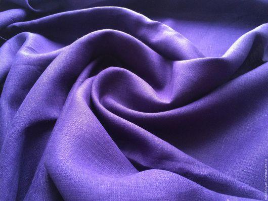 """Шитье ручной работы. Ярмарка Мастеров - ручная работа. Купить Лен костюмный 100% """"Темный  Сине-фиолетовый"""". Handmade. лен"""