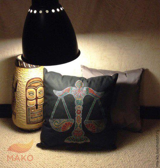 """Текстиль, ковры ручной работы. Ярмарка Мастеров - ручная работа. Купить Подушка декоративная """"Весы"""". Handmade. Комбинированный, подарок, подушка"""