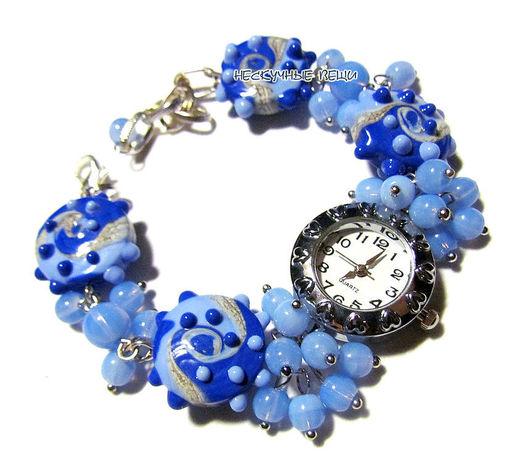 """Часы ручной работы. Ярмарка Мастеров - ручная работа. Купить Часы """"Море"""". Handmade. Синий, женские часы, синие часы"""
