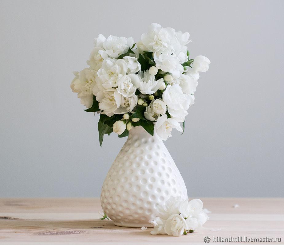 Vase 'White Dot M', Vases, Vyazniki,  Фото №1