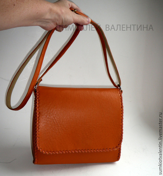 Женские сумки ручной работы. Ярмарка Мастеров - ручная работа. Купить Оранжевая сумка. Handmade. Рыжий, сумка кожаная